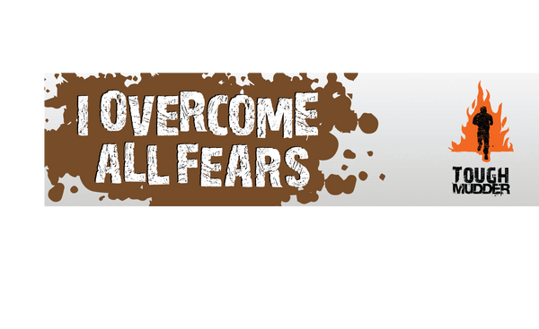 'I Overcome All Fears' Bumper Sticker
