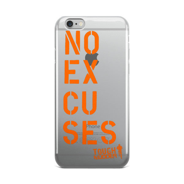 No Excuses iPhone case - Orange