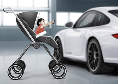 Porsche Starts Them Young with Carbon Fiber Baby Stroller