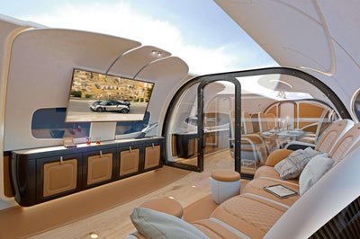 Reimagined Aircraft Cabin by Pagani and Airbus Has Digital Ceiling