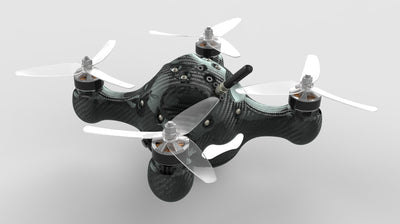 Racing Drone with Fully Enclosed Carbon Fiber Monocoque