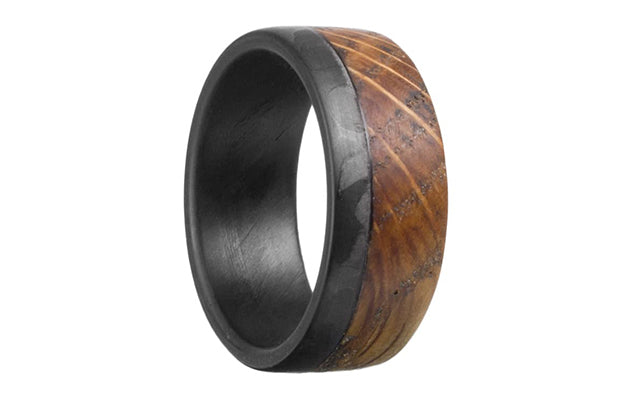 1-old-fashioned-carbon-fiber-and-whiskey-barrel-ring | Benefits Of Getting A Carbon Fiber Wedding Band