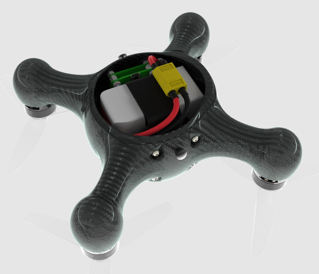 Nimbus 195 carbon fiber drone internal
