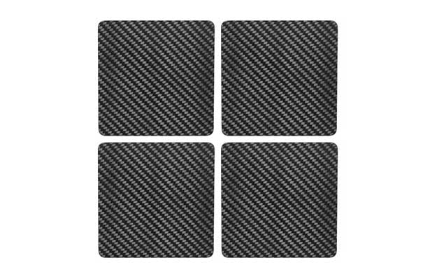 4-carbon-touch-carbon-fiber-coaster-set-square | 6 Amazing Carbon Fiber Kitchenware You Never Knew You Needed