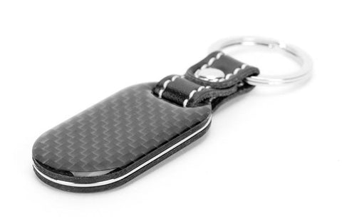 Carbon Fiber Key Tag with Stitched Leather | 8 Carbon Fiber Keychains For Every Style