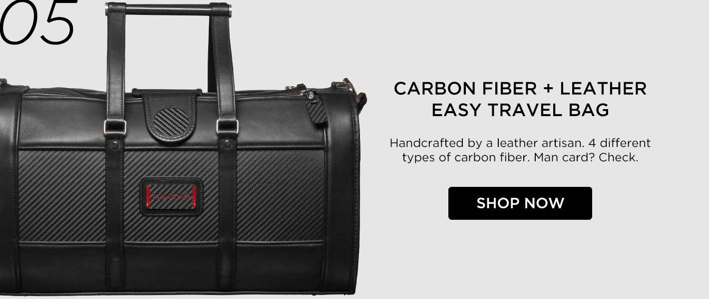 #5 - Londono Easy Travel Carbon Fiber and Leather Weekend Bag