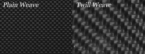 Plain vs. twill carbon fiber weaves