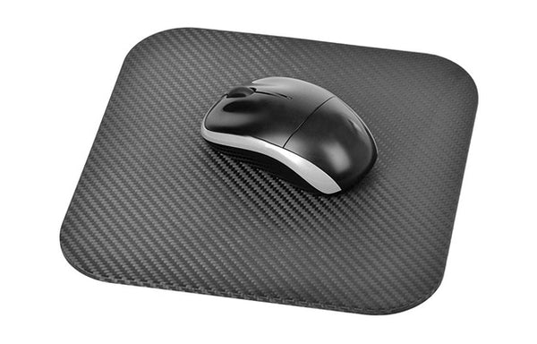 mousepad with the mouse on top | 4 Reasons Why A Carbon Fiber Mouse Pad Is What You Need