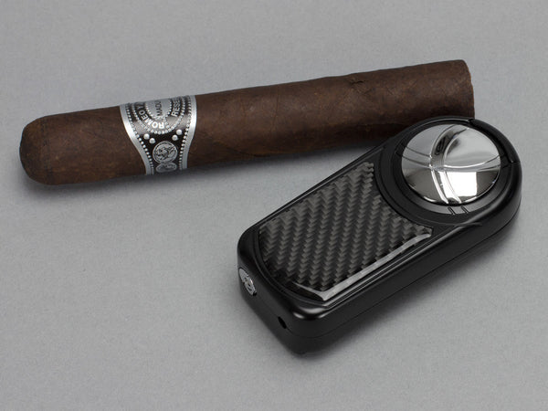 Dobrev III Triple Jet Flame Black Carbon Fiber Lighter