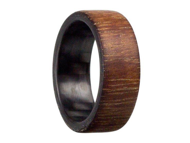 Aloha Carbon Fiber & Koa Wood Ring by Element Ring Co.