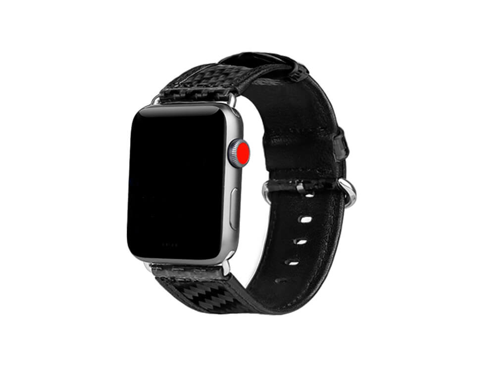 Carbon Fiber Watch Band For Apple Watch 44mm Carbon