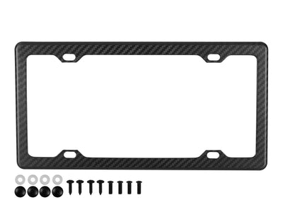 Matte finish carbon fiber license plate frame with 4 holes