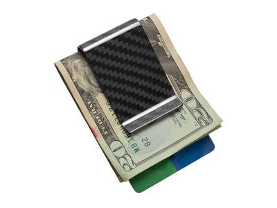 Real Carbon Fiber Money Clip / High-Gloss