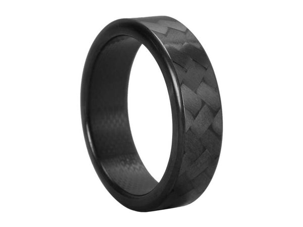 Ultra Carbon Fiber Ring   Forty Five Narrow / Polished