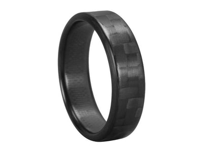 Ultra Carbon Fiber Ring - Narrow / Polished