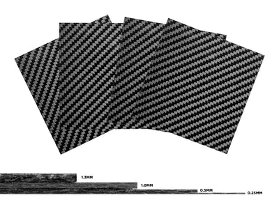 Real carbon fiber sheets sample pack