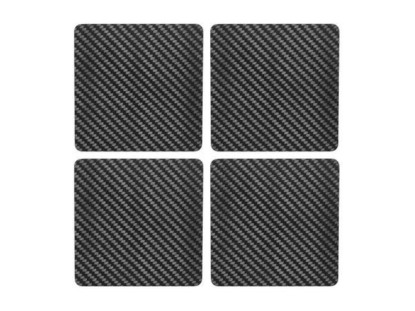 Carbon Touch 100% Carbon Fiber Drink Coaster Set - Square