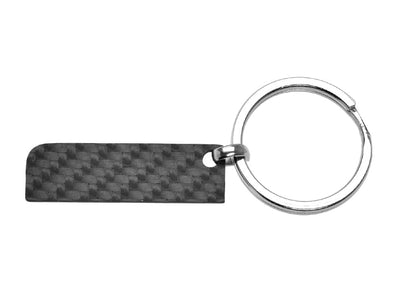Solid Carbon Fiber Rectangle Keychain - Small