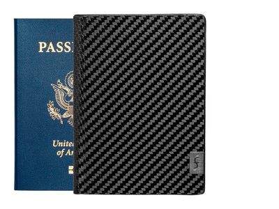 Common Fibers Carbon Fiber Passport Wallet Front