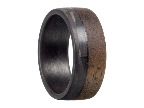 Craftsman 70/30  Carbon Fiber & Walnut Wood Ring by Element Ring Co.