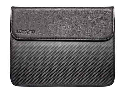 Londono Leather and Carbon Fiber Sleeve for Apple iPad, front