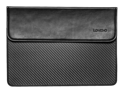 "Londono Carbon Fiber & Leather Sleeve for 15"" Macbook Pro"