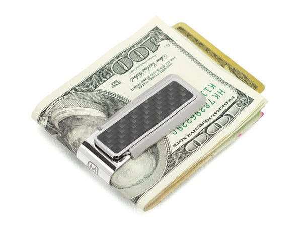 M-Clip Stainless Steel and Black Carbon Fiber Money Clip