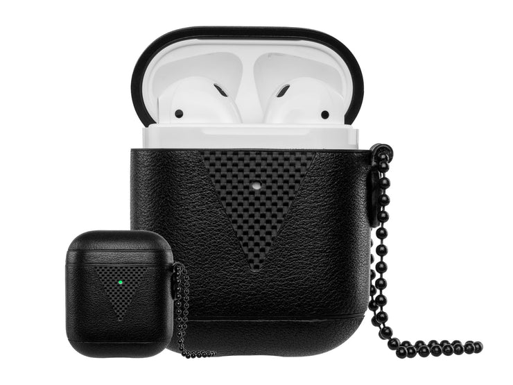 HoverPod NAPA Leather with Carbon Fiber Airpods Case