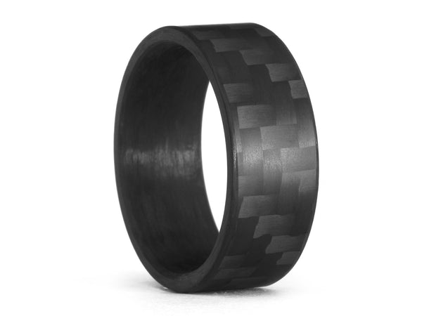 Oliver Paul Canton Matte Carbon Fiber Ring