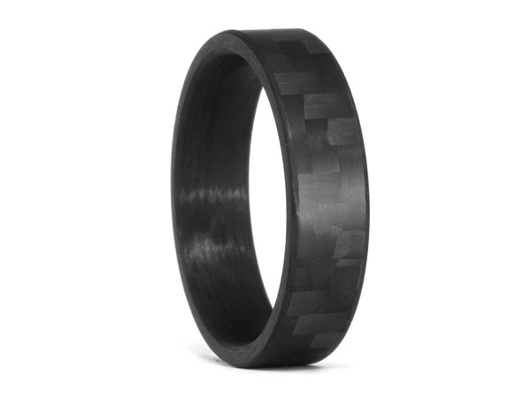 oliver paul monterey matte carbon fiber ring - Carbon Fiber Wedding Rings