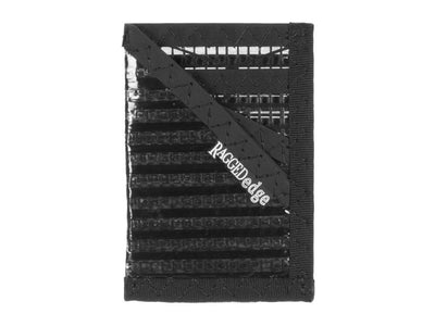 RAGGEDedge Carbon Fiber Sailcloth Card Sleeve ID, front