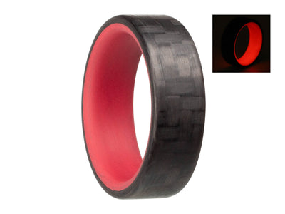 Red carbon fiber glow ring