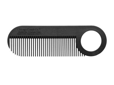 Chicago Comb Co Model No. 2 carbon fiber travel beard comb