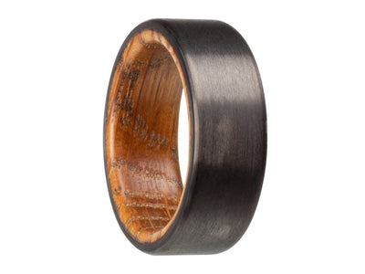 Carbon fiber and whiskey barrel cooper ring