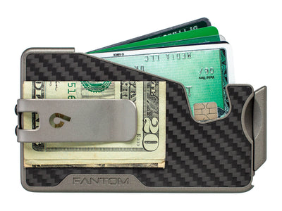 Fantom R Carbon Fiber Fan-Out Wallet with Titanium Money Clip