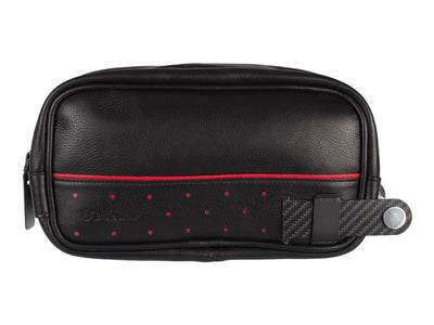 Londono Super Carrera carbon fiber and leather toiletry bag