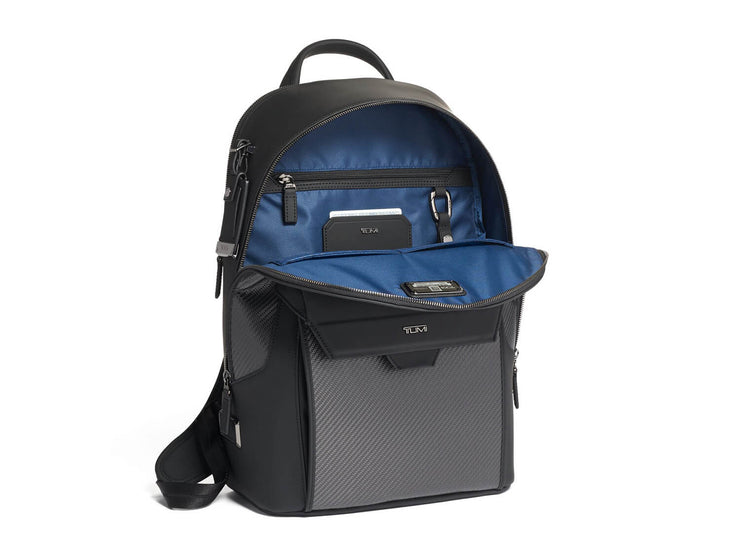 Tumi Marlow Carbon Fiber Backpack open