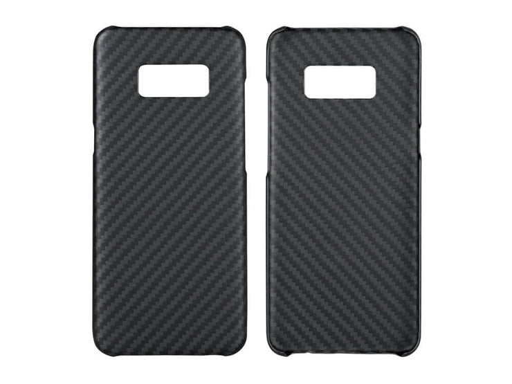 Front and inside of Aramid Fiber case for Samsung Galaxy S8 or S8+ by CFG Collection