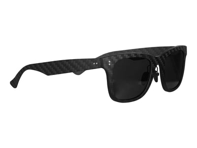 Carbon fiber sunglasses, front quarter