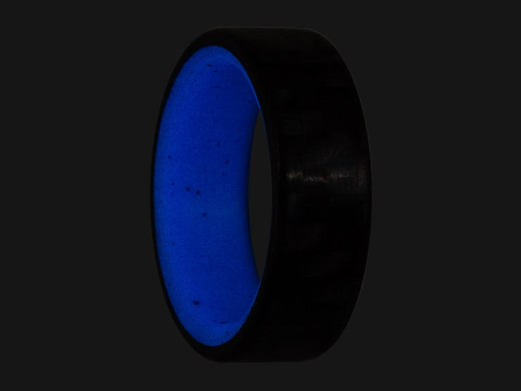 Blue Racer Carbon Fiber Glow Ring by Element Ring Co.