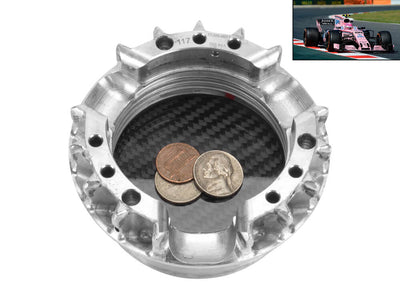 Used Formula 1 Wheel Nut Carbon Fiber Desk Organizer / Ashtray