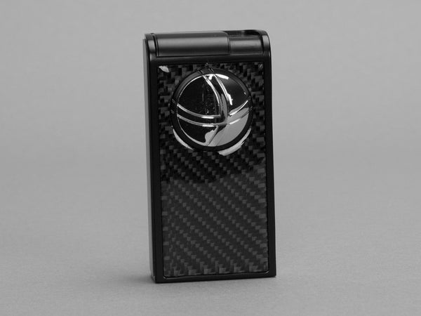 Infinity Double Jet Flame Black Carbon Fiber Lighter