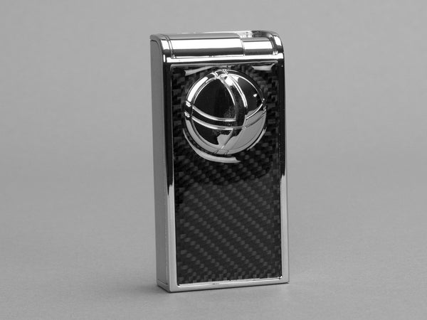 Infinity Double Jet Flame Chrome & Carbon Fiber Lighter