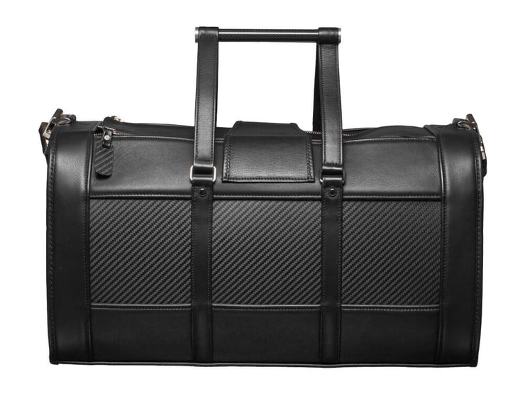 Londono Easy Travel Carbon Fiber and Leather Weekend Bag back