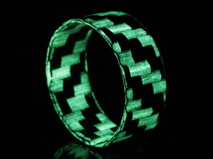 Lumineer Carbon Fiber & ChromaGlow Ring by Element Ring Co.