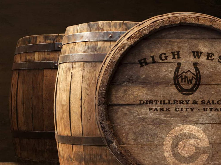 High West distillery whiskey barrel
