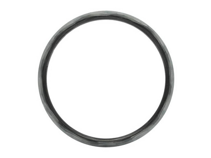 Silverback Carbon Fiber & Silver Fiberglass Ring by Element Ring Co. - Side Profile