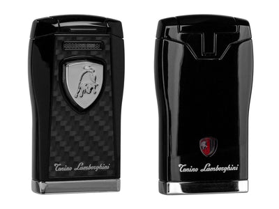 Tonino Lamborghini Argo Carbon Fiber Cigar Lighter, front and back