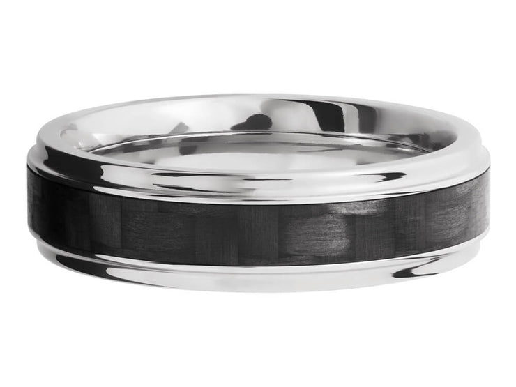 6mm Titanium Grooved Edge Ring With 3mm Real Carbon Fiber Inlay down