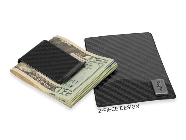 Common Fibers FIT Carbon Fiber Removable Money Clip Wallet